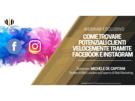 Webinar - Come trovare clienti velocemente con Facebook e Instagram