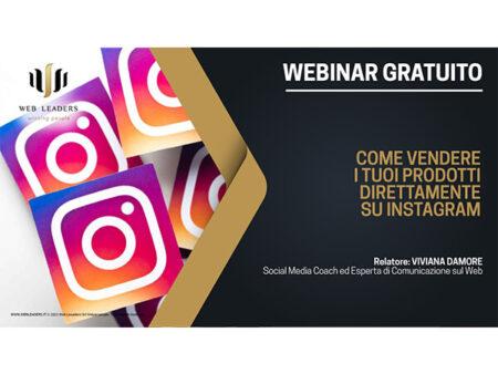 Webinar - Scopri come vendere i tuoi prodotti direttamente su Instagram